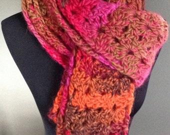 Handmade thick, chunky yarn Boho scarf