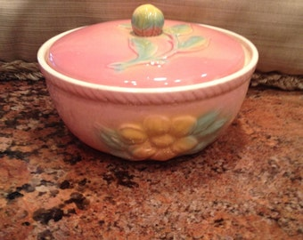 Vintage Hull Potter, Sun-Glow Covered Casserole