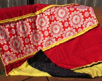 Red and Black Child Rag Blanket