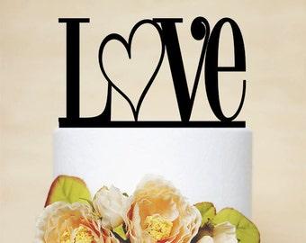 Love Cake Topper,Wedding Cake Topper,Wedding Decor With Acrylic-P006