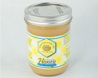 Absolutely Raw Honey - 1 1/2 lb Pint Jar - FREE SHIPPING