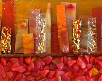 """Mosaic Satcked Glass - Sin City - 5"""" x 12"""""""