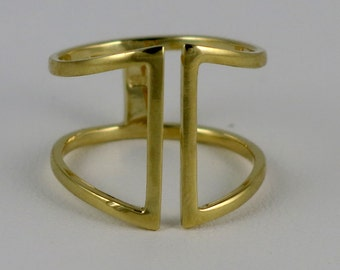 Open Double Band Ring