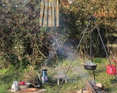 Setting up camp -A6 postcard