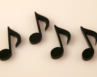 2 pcs Music Note Laser Cut Acrylic, Jewelry, Pedant