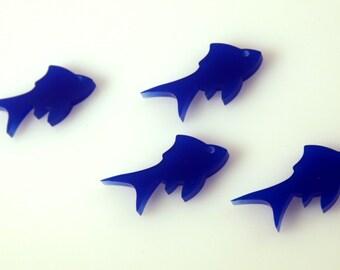 2 pcs Fish Laser Cut Acrylic, Jewelry, Pedant