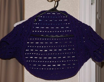 Royal Purple Short Sleeved Shrug