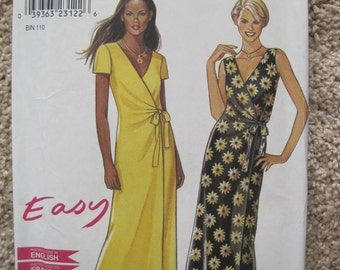 UNCUT Misses Dress - Size 8 to 18 - Simplicity Sewing Pattern 6861