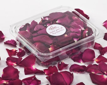 Dried rose petals, Freeze dried petals,  Lovely natural and fragrant petals. 1 Liter box (5 cups). Buy 45 cups and get 5 cups for FREE!