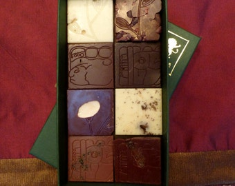 Chocolate Bar TASTING KIT - 8 Squares of Edible Art