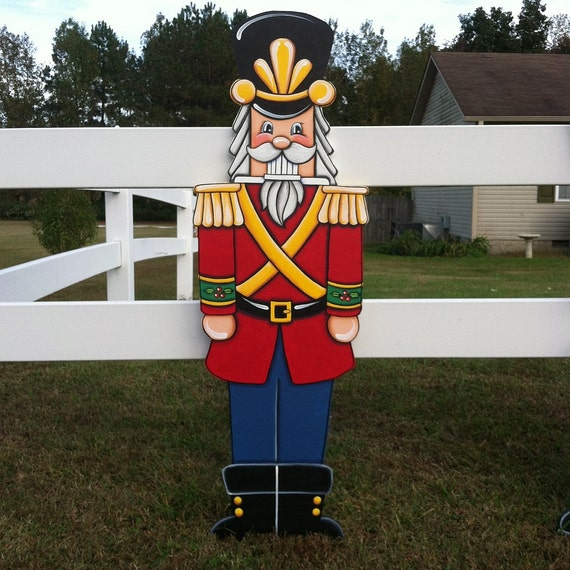 Items similar to large nutcracker on etsy for Christmas lawn decoration patterns