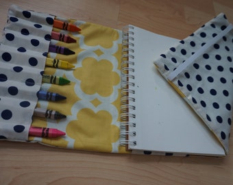 Travel Crayon Wallet and Notebook