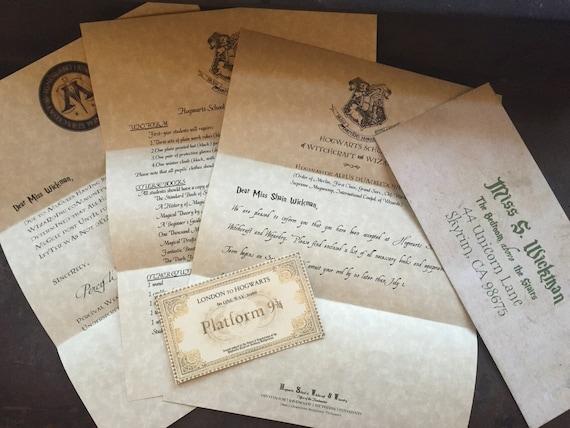 Personalized Hogwarts Acceptance Letter- Custom Harry Potter Letter