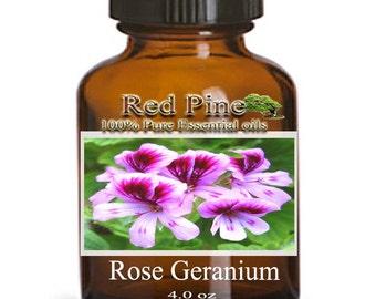 Rose Geranium Essential Oil - Pelargonium graveolens - 100% Pure Therapeutic Grade