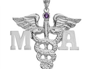 Medical Assistant MA Silver Charm | Graduation Jewelry & Gifts