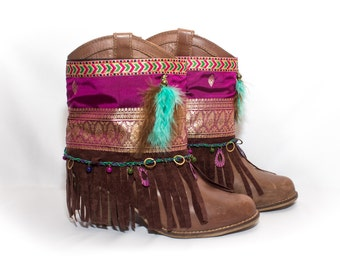 Cover boots, boots decoration, gypsy style, accessories for your footwear, handmade coverboot