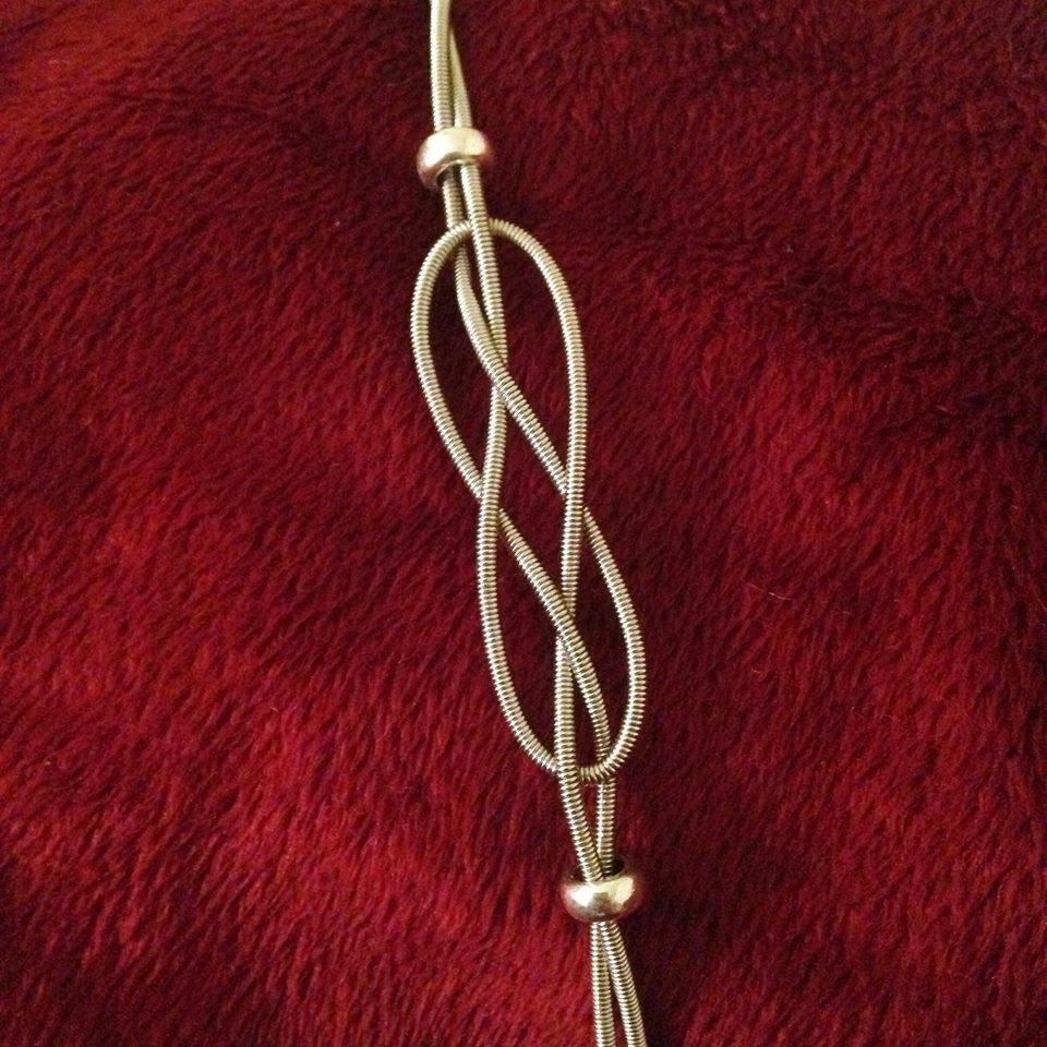 blissful design guitar string bracelet. Black Bedroom Furniture Sets. Home Design Ideas