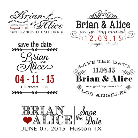 Items similar to digital wedding save the date overlays for Electronic save the date template