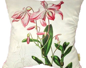 Orchids are delicate and fashionable. Decorate your home or garden with these pale pink delicacies on cushion/pillow covers.