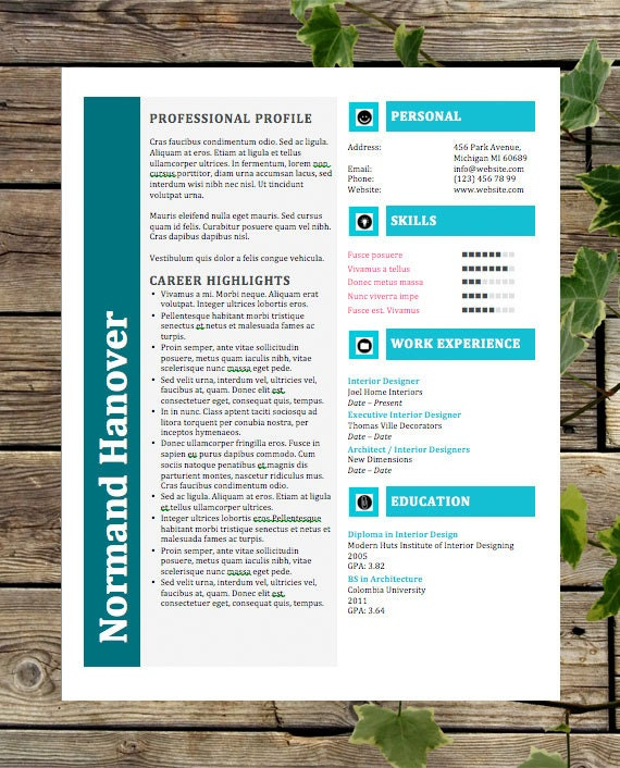 creative resume template instant download by businesstemplates