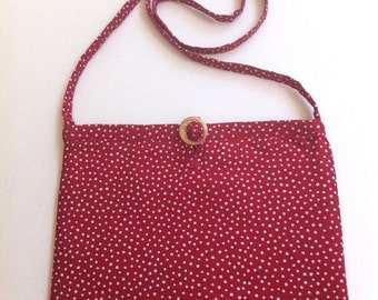 SALE - Shoulder Pouch  In Japanese Fabric