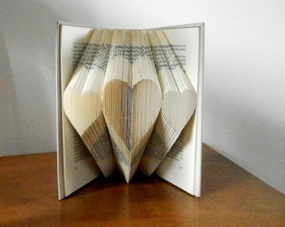 Book Art Wedding Gift : Book ArtWedding giftPaper anniversaryGirlfriend giftGift ...