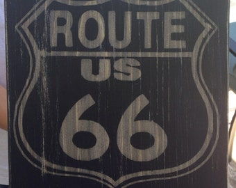 Route 66 man cave vintage road sign