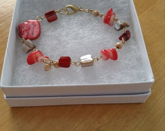 Red Coral Colored Bracelet