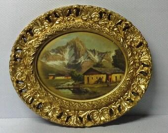 Vintage plaster frame