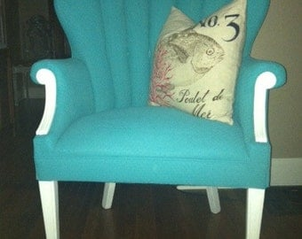 1950's vintage channel back chair