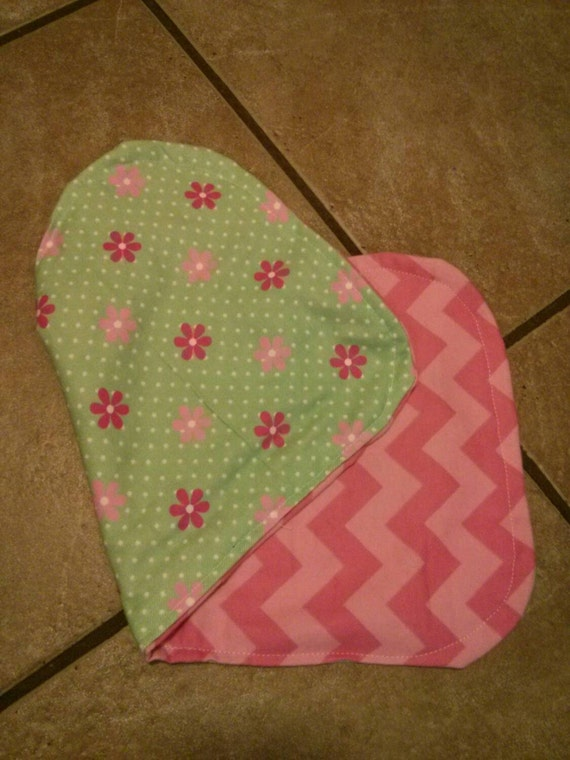 Beautiful burp cloth for baby girl