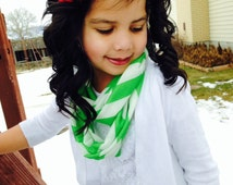 St. Patrick's Day Scarf Chevron Kids Infinity Scarf, Chic and Cute Kids Scarf