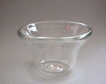 Blown Clear Glass Bowl