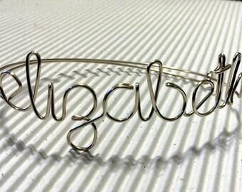 Custom Wire Name Bracelets