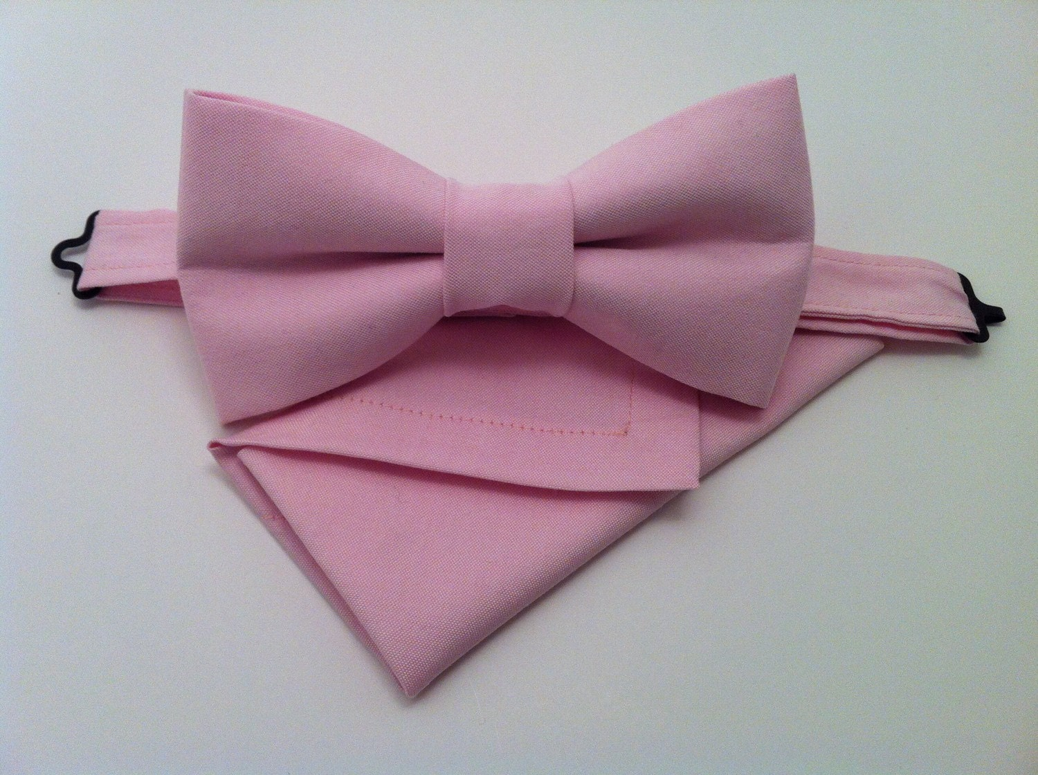 light pink bow tie set pink s bow tie and pocket by ruells