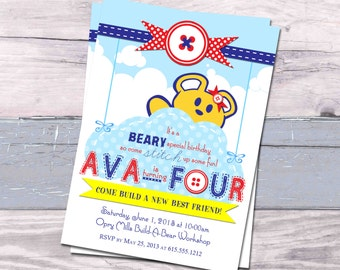 Build A Bear Invitation