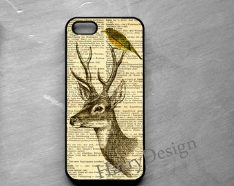 Bird and Deer Print iPhone case, iPhone 4 / 4s / 5 / 5s /5c, iPhone 6 / 6 Plus case, Samsung Galaxy S3 / S4 / S5 case, Note 2, Note 3 case
