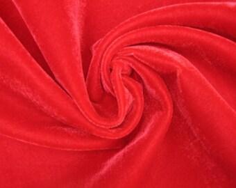 Red Velvet Fabric Fat Quarter India