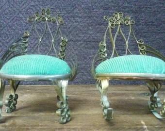 Vintage Tin Can Tramp Art, Doll Furniture