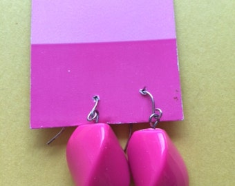 Pink Wire Earrings