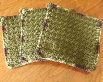 Crochet kitchen pot holder hot pad