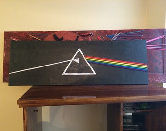 Pink Floyd- dark side of the moon string art