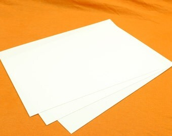 """White or Black 3 Sheets Plasticard / Styrene 20 30 40 60 80 Thou 0.5mm - 2.0mm A4+  9"""" x12"""""""