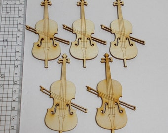 Wooden Cello 5 pieces 100 mm high for musicians, as table decoration for weddings, birthdays, music lovers