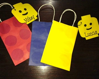 Lego gift bags/favor bags