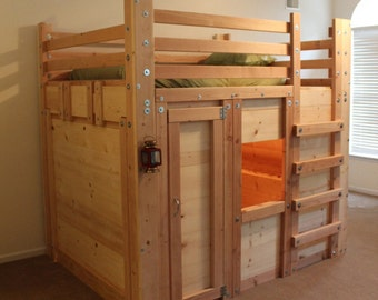 Queen Cabin Bed Plans - The Bed Fort
