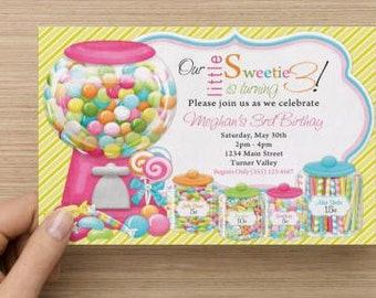 Confections Birthday Party Invitation