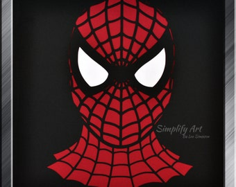 Spiderman Silhouette Wall Art