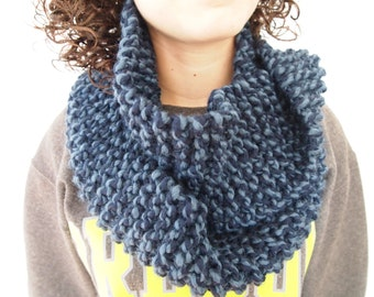 Two Toned Blue Infinity Scarf