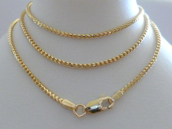 18ct Solid Gold Franco Chain 18ct 18k 750 Rope Men S Women
